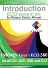 Eco Solvent ink for Roland, Mutoh, Mimaki. Inkwin Eco 360 for DX5, DX6 and DX4 printheads