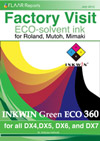 INKWIN Green ECO 360 for all DX4,DX5, DX6, and DX7: Eco-solvent ink for Roland, Mutoh, Mimaki