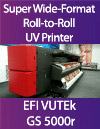 EFI VUTEk GS 5000r roll-to-roll roll-fed 5-meter UV inkjet printer evaluation report billboard signa