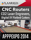 APPPEXPO 2014 CNC Routers, CO2 Laser engravers, Digital XY Flatbed Cutters, tradeshow FLAAR