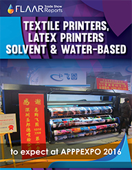 APPPEXPO 2016 UV textile solvent latex exhibitor list preview based on 2015 set UV Flaar Reports