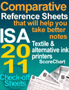 Comparative Reference Sheets ISA 2011 Textile Printers ScoreChart