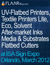 General Companies booth locations at ISA 2012, floor plan. UV, Textile, Alternative Inks, Flatbed Cutters