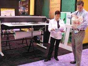 Encad large format printers, ISA trade show 2002