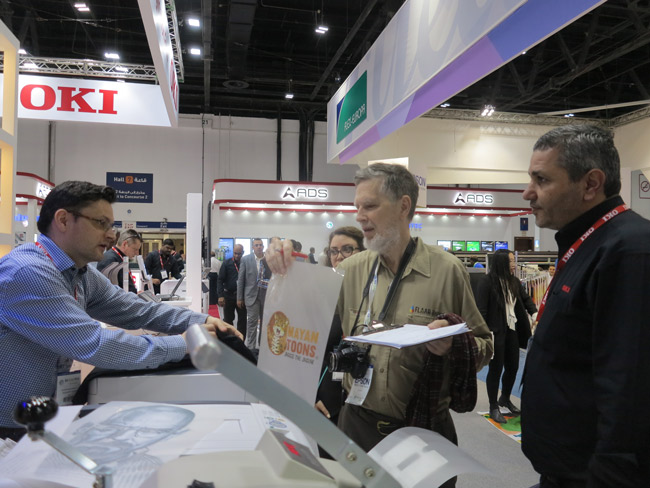OKI booth T-shirt Printer at SGI dubai 2018