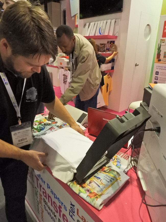 Magic Touch  T-shirt Printer Samples at SGI dubai 2018