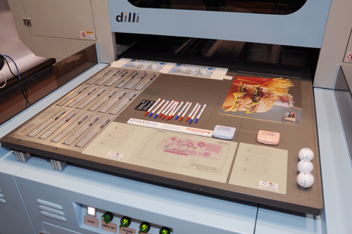 Samples of the Dilli Neo Jupiter flatbed UV-cured inkjet printer