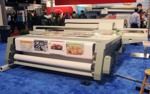 Oce Arizona 250 GT UV-cured flatbed and roll-to-roll inkjet printer reviews