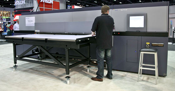 Durst Rho P10 250 at ISA 2012 tradeshow, wide-format printer image archive, Copyright FLAAR 2012