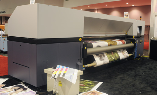 the Durst 320R roll to roll UV-curable printer evaluations