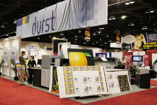 Picture of the Durst Rho 600 combo UV-curable flatbed printer evaluations