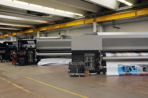Durst Rho 320R roll-to-roll UV-curable wide-format inkjet printer, soft signage, Dynajet – Dollfus & Muller