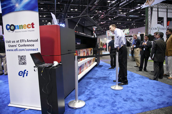 EFI R3225 roll-to-roll UV-cured printer was launched at ISA 2012 in Orlando