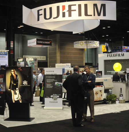 Fujifilm booth Acuity LED 1600 Graph Expo 2011