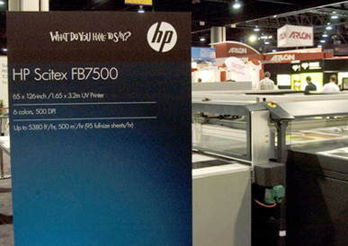 HP Scitex FB7500 UV flatbed printer
