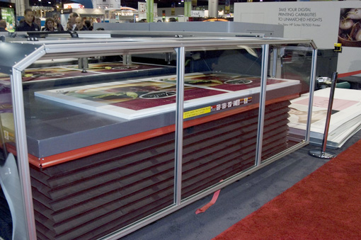 Samples of the HP Scitex FB7500 UV flatbed printer