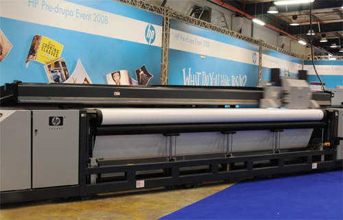 Image of HP Scitex XP5300 roll-to-roll UV-curable inkjet printer