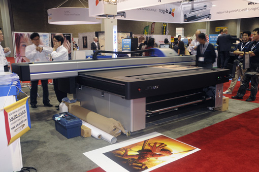 Jetrix 2515 flatbed UV printer of InkTec ink
