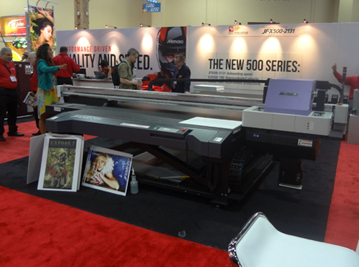 Mimaki JFX 500 ready for drupa 2012 at Mimaki booth. Image by FLAAR