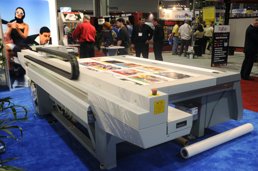 Oce Arizona 250 GT UV-cured flatbed and roll-to-roll inkjet printer evaluations