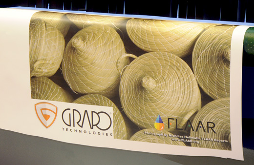 GRAPO Shark roll-to-roll production UV flatbed printer samples
