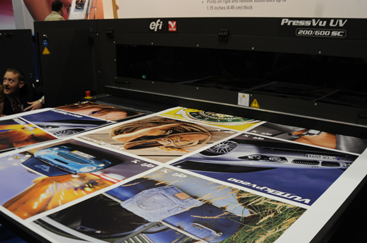 Vutek's PressVu, UV 180EC UV digital press, eight color Vutek Press, Vu UV 180/360 EC flatbed, 200/600