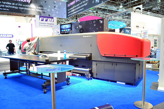 efi VUTEk HS100 printer at drupa 2012