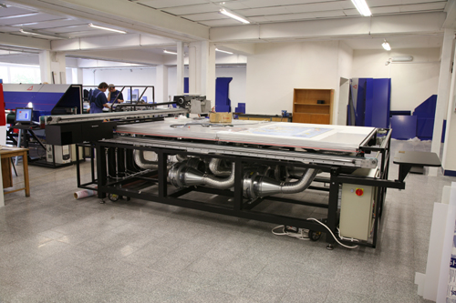 Grapo Manta flatbed UV-cured wide format printer factory visit