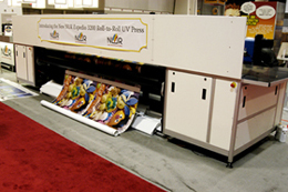 Image of NUR Expedio 3200 was the first roll-to-roll grand format UV-curable ink printer