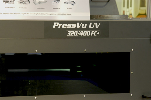 Image of the Vutek PressVu UV 320/400 flatbed printer