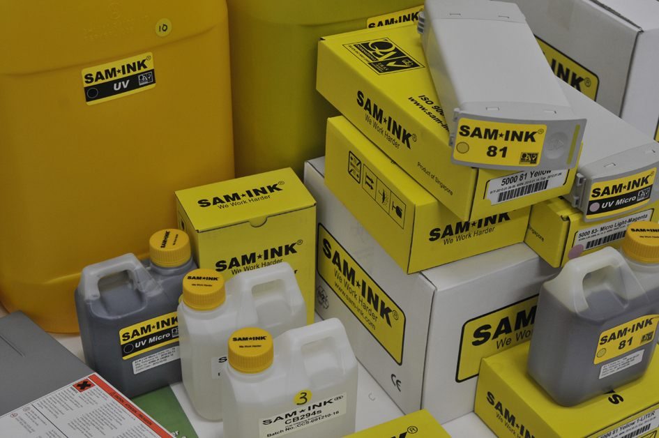 SAM Ink, aftermarket bulk replacement third-party mild-solvent ink