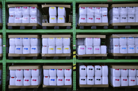InkTec Warehouse Ink large containers Korea July 2011