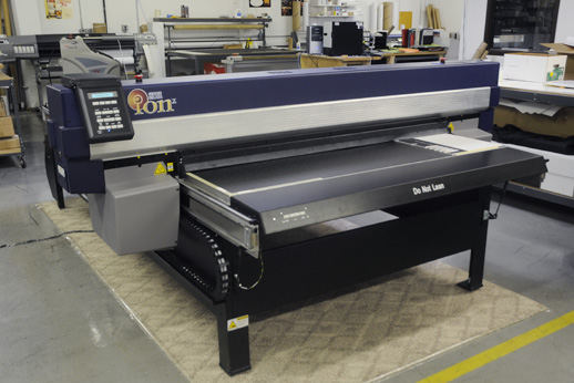 Gerber Solara ion X cationic UV-curing inkjet printer