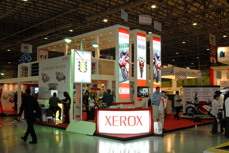 Xerox booth back light at Gulf Print Dubai 2007