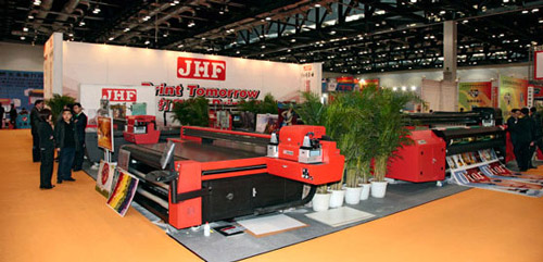 JHF printer displayed at BSS Beijing expo, 2012 tradeshows images