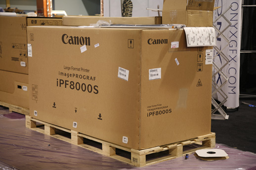 Canon imagePROGRAF iPF8000 arriving