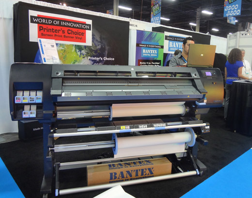 The HP DesignJet L26500 was exhibited at ISA 2013 in Las Vegas last April