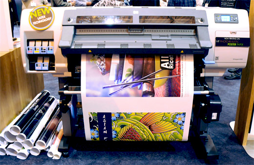 HP Designjet L25500 latex ink printer at 42 inch and 60-inch widths