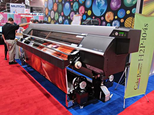 Seiko ColorPainter H2P 104s printing
