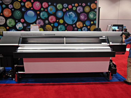 Front view of Seiko ColorPainter H2P 104s at SGIA 2012