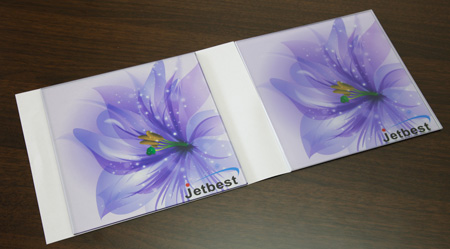 Sample of Jetbest Magic ink printing on glass