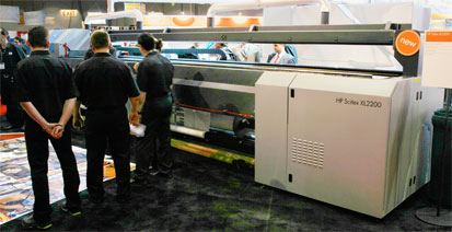 Photo of HP Scitex XL2200 roll-to-roll UV-cured printer