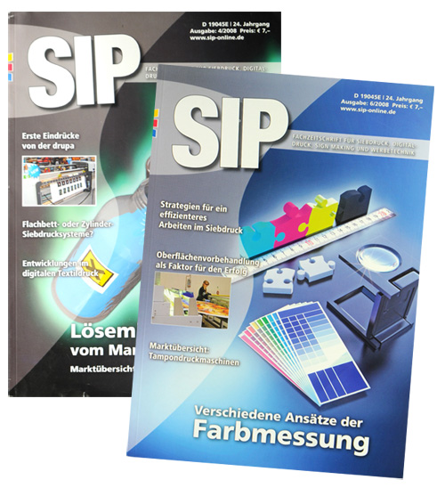 SIP, trade magazine signage trade magazines, conventions, seminars, lectures