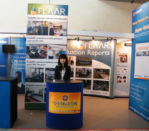 Flaar booth Sign expo 2010